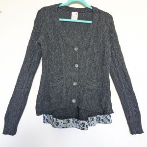 Anthropologie Charcoal Cardigan